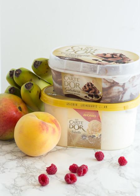 Frutas de temporada que mejor combinan con helado