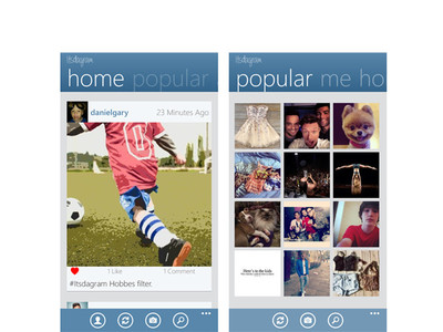 Itsdagram, otro cliente no oficial de Instagram llega a Windows Phone 8