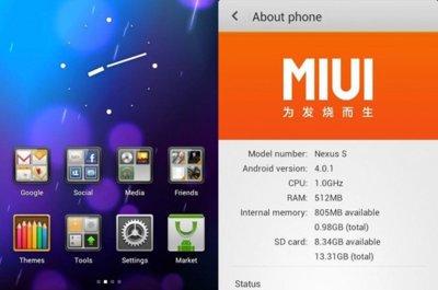 MIUI 4.0 llega al Google Nexus S