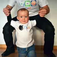 Divertidas camisetas a juego para papá y bebé como regalo del Día del Padre