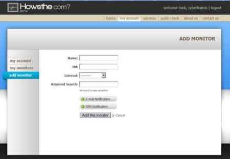 Howsthe, monitoriza el estado de hasta tres sitios web