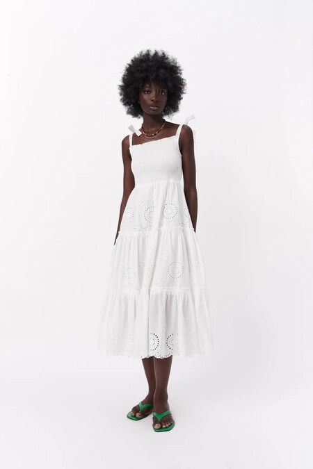 Vestido Blanco De Zara 11
