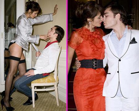 Ed Westwick seduce a Helena Christensen en Harpers Bazaar