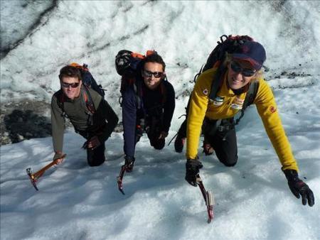Marc Coma y Héctor Barberá ascendiendo el Mont Blanc
