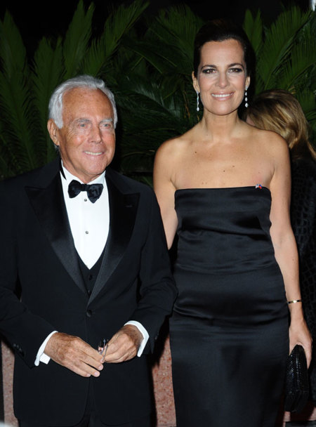 Giorgio y Roberta Armani en Cannes 2012