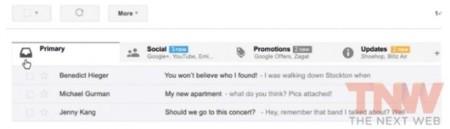 gmail google pestañas interfaz