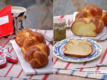 Receta de Zopf, trenza suiza de pan de leche