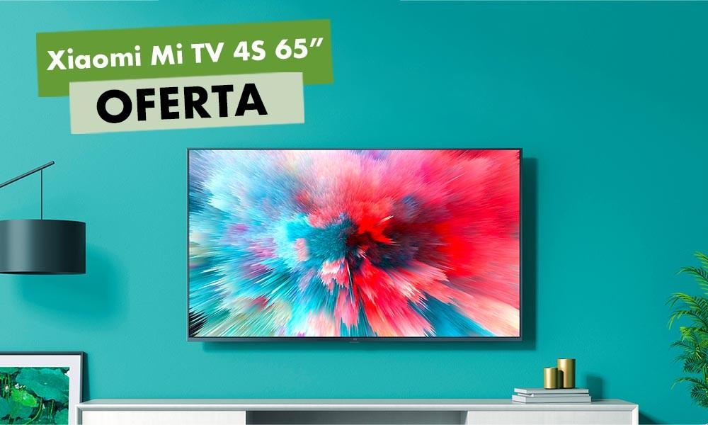 La mayor diagonal para la Xiaomi Mi TV 4S tiene un descuento tan grande como sus 65 pulgadas en MediaMarkt: la tienes por 114 euros menos