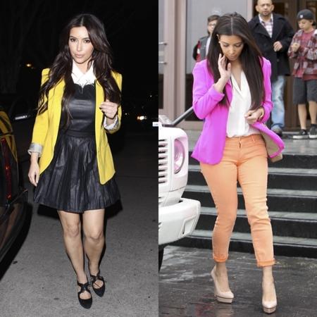 kim kardashian chaquetas colores