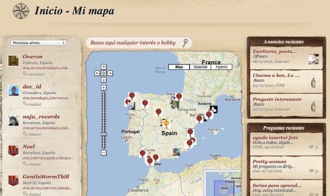 geonick mapa afinidades