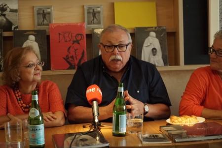 Juan Manuel Díaz Burgos en la rueda de prensa del Premio Bartolomé Ros 2017. Chema Sanmoran