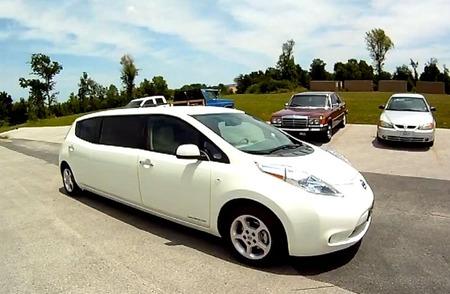El Nissan LEAF limusina en vídeo