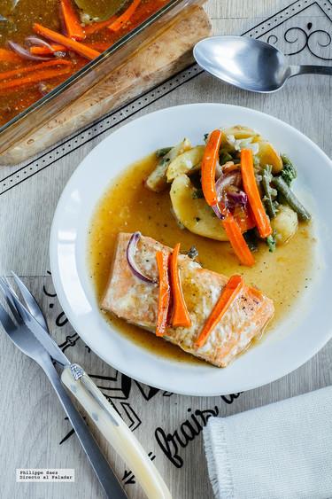 Salmón al horno en salsa agridulce: receta fácil