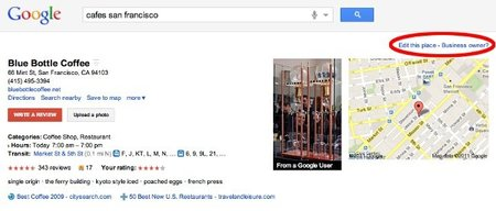 Google Places facilita mantener actualizada la información de tu negocio