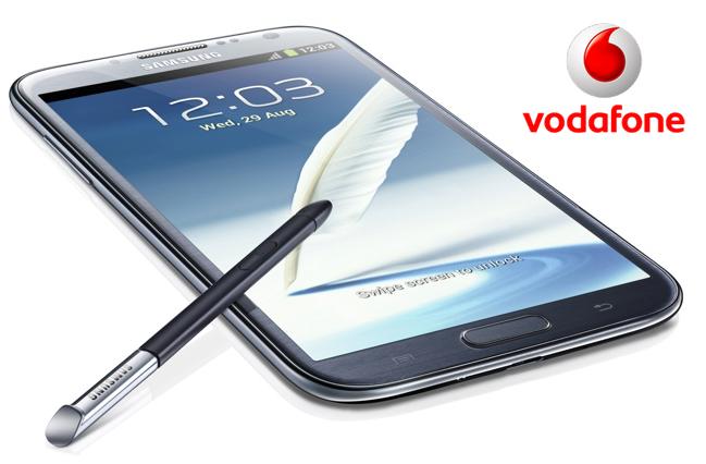 Precios Samsung Galaxy Note 2 con Vodafone