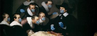 Quédate en casa: hasta el arte se pone guantes y mascarillas