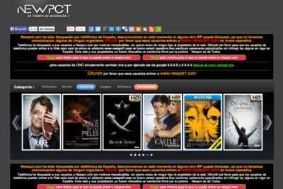 Newpct.com, bloqueada en España por las operadoras por orden judicial