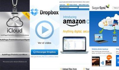 Comparativa de precios de iCloud con Dropbox, Amazon Cloud Drive y SugarSync