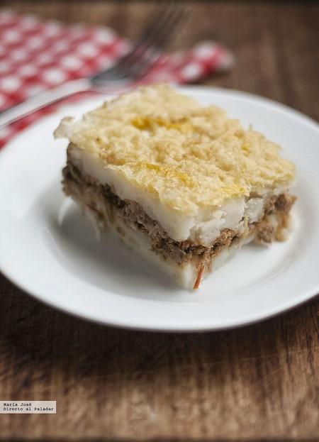 Lasaña de puré de patata: receta para toda la familia