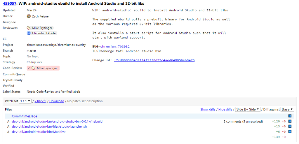 Android Studio Chrome™ OS