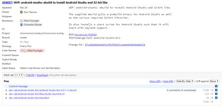 Android Studio Chrome OS