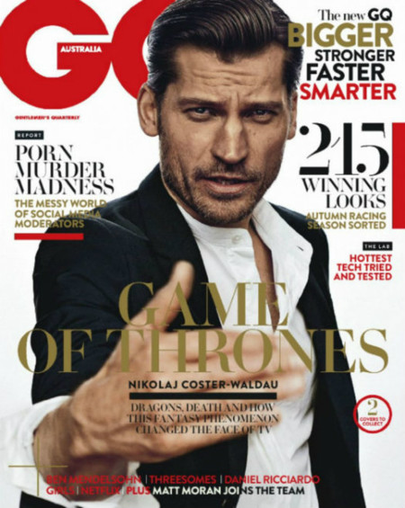 Nikolaj Coster Waldau Gq Australia March April 2015 Cover 800x1003