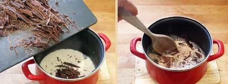 Salsa de chocolate para gofres