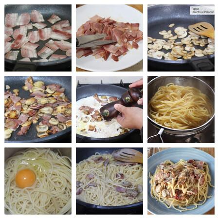 Espaguetis Falsa Carbonara Pasos Pakus Futurobloguero Directo Paladar