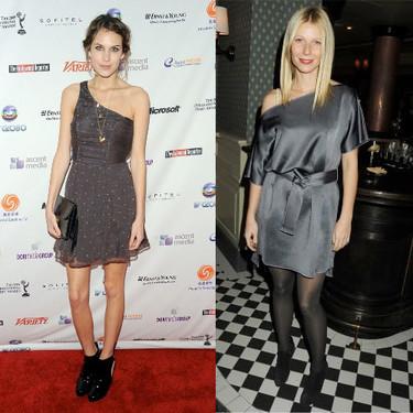 Estas navidades lleva un vestido gris, por Alexa Chung y Gwyneth Paltrow