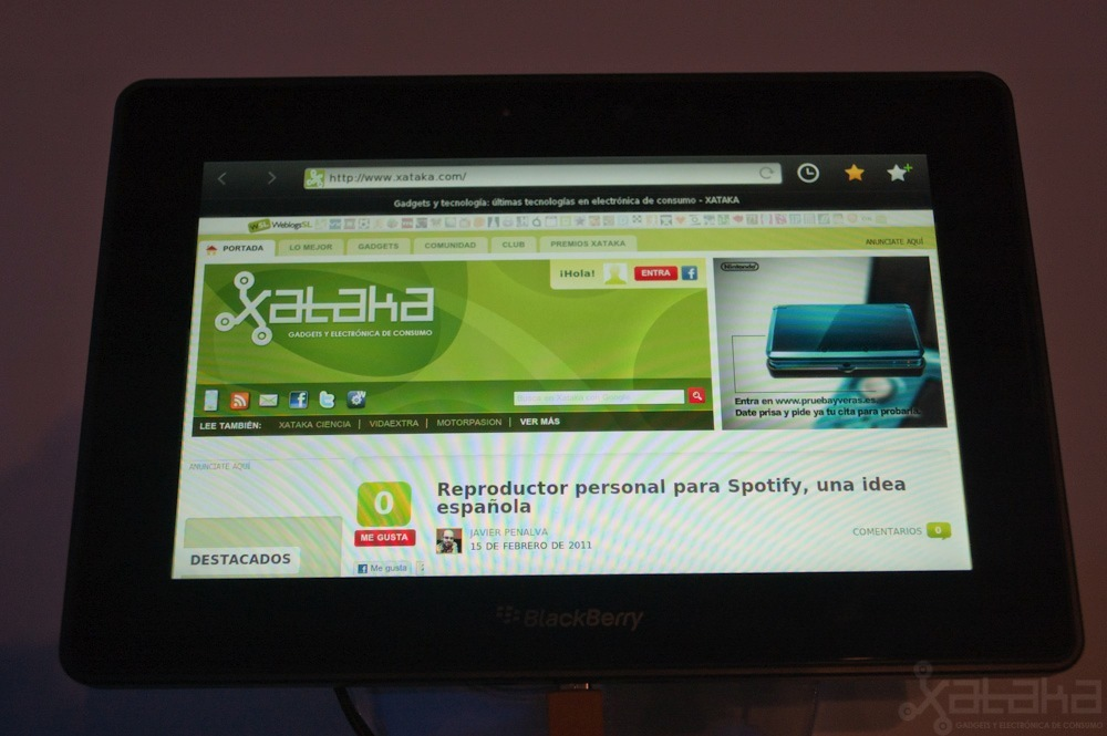 Foto de Blackberry Playbook en MWC 2011 (1/5)