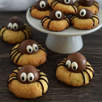 Cómo hacer las galletas araña más adorables de Halloween