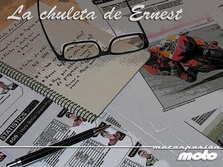 MotoGP Australia 2012: la chuleta de Ernest