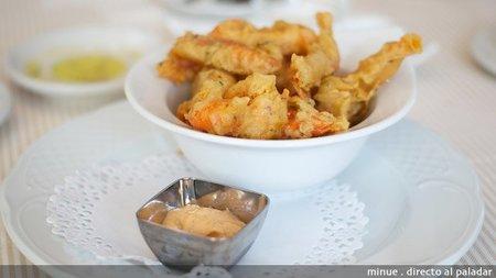 Restaurante Xiri - gambas en tempura