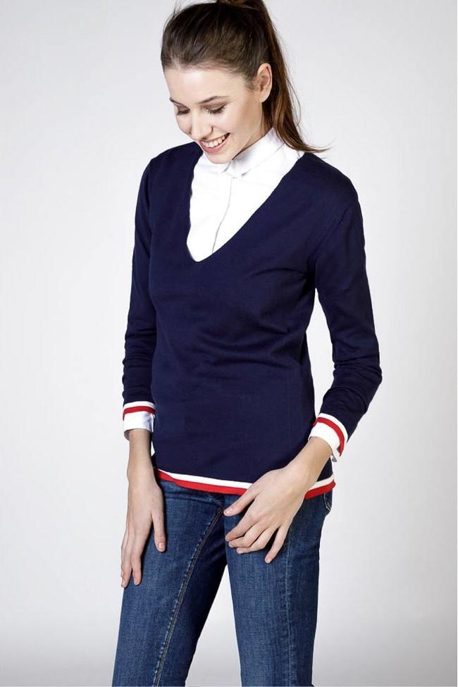 Está Línea Mujer Llena Masculina Ganso De Camiseros Rayas Jerséis Camisas Pico Americanas Su La Clásicas Vestidos El Preciosos Y 04Id0q