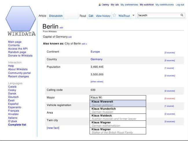 wikidata wikipedia