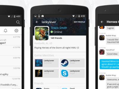 La mensajería para gamers llega a Android de la mano de Curse, una alternativa a TeamSpeak