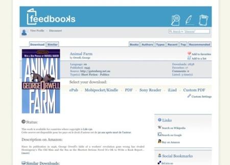 Feedbooks, colecciona y crea tus propios libros electrónicos
