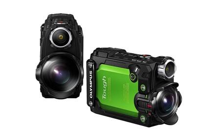 Sólo hoy, la resistente cámara de acción TG-Tracker de Olympus en color verde, en Amazon por 250 euros