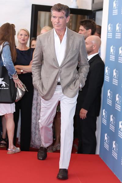 Hombres con estilo en el festival de cine de Venecia 2012