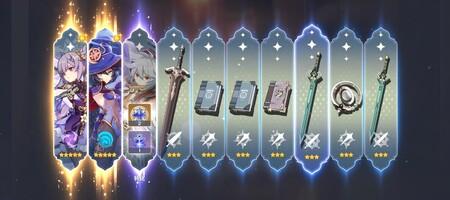 Genshin Impact 5 Stars Gacha