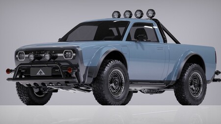 Esta pick-up eléctrica de diseño retro promete más de 400 km de autonomía y todo el estilo ochentero que $800,000 pesos te pueden comprar