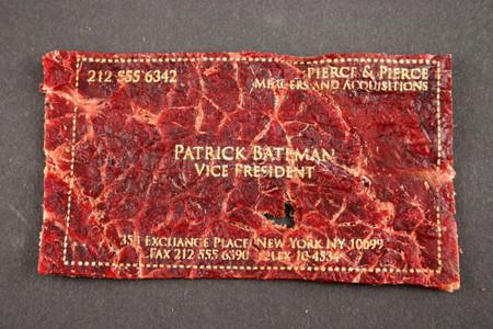 Para los carnívoros, tarjetas de presentación hechas con carne seca