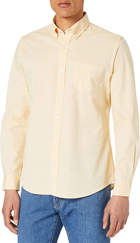 Cortefiel Camisa Lisa Oxford Algodón Orgánico Hombre