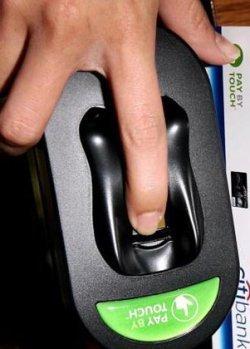 El dedo sustituirá a la tarjeta de crédito