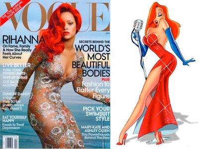 Separadas al Nacer: Rihanna en Vogue Vs Jessica Rabitt