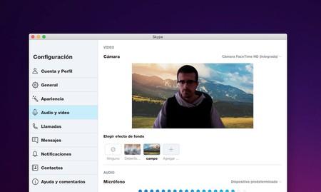 Skype para Mac obtiene fondos personalizados: así puedes colocar el tuyo