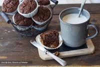 Muffins de chocolate tibio. Receta