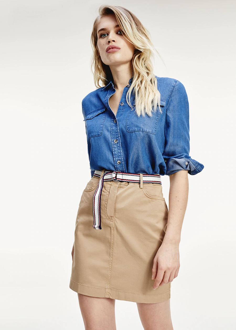 Falda mini cinturón