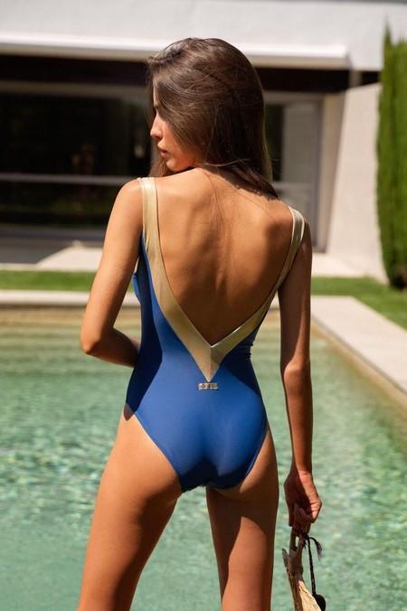 Banador Azul Y Dorado Espalda 1