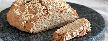 Pan integral de avena y espelta: receta saludable rápida y fácil con levadura en polvo